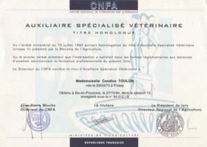 Educagil - Diplôme CNFA - animaux
