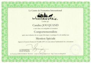Educagil - Diplôme woodenpark comportementaliste - animaux