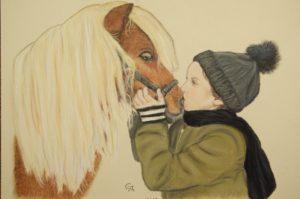 enfant et son poney